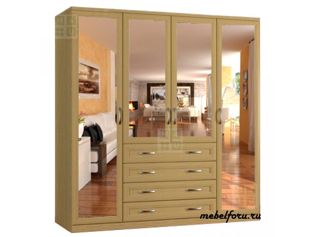 Шкаф классика 4.4.4з-о - мебель недорого в москве.